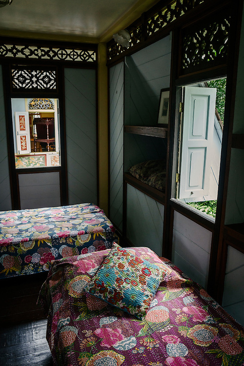 Interior of one of the traditional Malay homes used for the artist residencies at Rimbun Dahan.