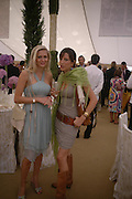 Anouskha di Georgiou and Princess Tamara Czartorski Borbon, .  Cartier International Day at Guards Polo Club, Windsor Great Park. July 24, 2005. ONE TIME USE ONLY - DO NOT ARCHIVE  © Copyright Photograph by Dafydd Jones 66 Stockwell Park Rd. London SW9 0DA Tel 020 7733 0108 www.dafjones.com