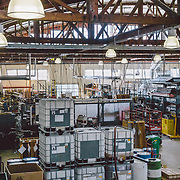 An aerial perspective of part of the Chris King Machine shop in Portland, Oregon.