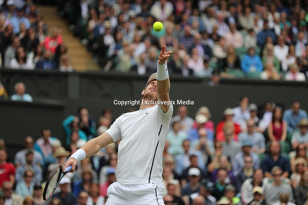 WIMBLEDON - UK - 28th June 2016: The Wimbledon Tennis Championships Day-2  at the All England Lawn Tennis Club, Wimbledon. S.E. London.<br /> <br /> Pic shows.Andy Murray (pictured) (GB) playing Liam Brody (GB)<br /> &copy;Exclusivepix Media