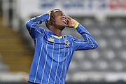 David Operon of AFC Wimbledon during the FA Youth Cup match between Newcastle United and AFC Wimbledon at St. James's Park, Newcastle, England on 6 January 2016. Photo by Stuart Butcher.