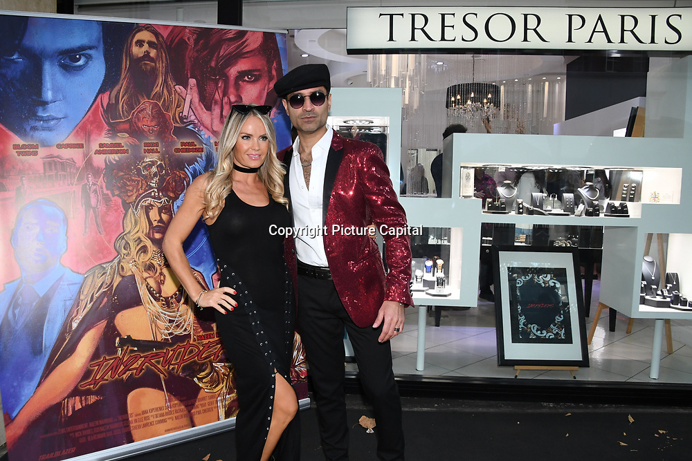 Annie Cooper is a actress & Naeem Mahmood director of the In2ruders arrives at Tresor Paris In2ruders - launch at Tresor Paris, 7 Greville Street, Hatton Garden, London, UK 13th September 2018.