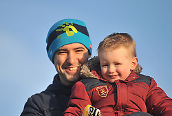 Mark Staunton with his son Rian enjoying the sunshine and the rugby at Cloondeash as Castlebar took on Ballyhaunis in the Connacht Junior Cup.<br /> Pic Conor McKeown