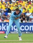 Liam Plunkett of England bowling during the ICC Cricket World Cup 2019 semi final match between Australia and England at Edgbaston, Birmingham, United Kingdom on 11 July 2019.
