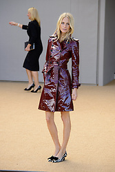 Arrivals for Burberry Prorsum Spring / Summer 2014. <br /> Poppy Delevigne arrives for the Burberry Prorsum Spring / Summer 2014 show, London, United Kingdom. Monday, 16th September 2013. Picture by Chris Joseph / i-Images
