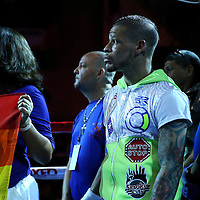 KISSIMMEE, FL - JULY 15: Orlando Cruz watches a tribute to the Pulse Nightclub shooting victims prior to his fight against Alejandro Valdez at the Kissimmee Civic Center on July 15, 2016 in Kissimmee, Florida. Cruz was the first professional boxer to announce himself as gay and recently lost four friends in the Pulse Nightclub shooting in Orlando, he dedicated this match to his lost friends and won the bout by TKO in the 7th round.  (Photo by Alex Menendez/Getty Images) *** Local Caption *** Orlando Cruz; Alejandro Valdez