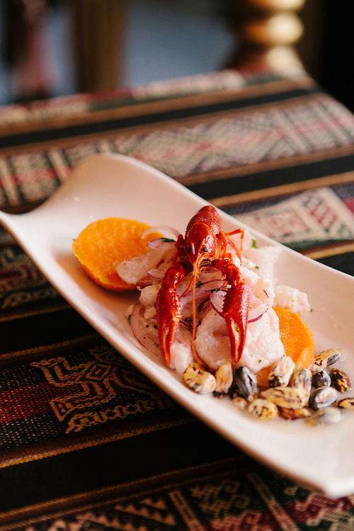Cerviche at the Dimensions Latina, a Peruvian restaurant, Brussels