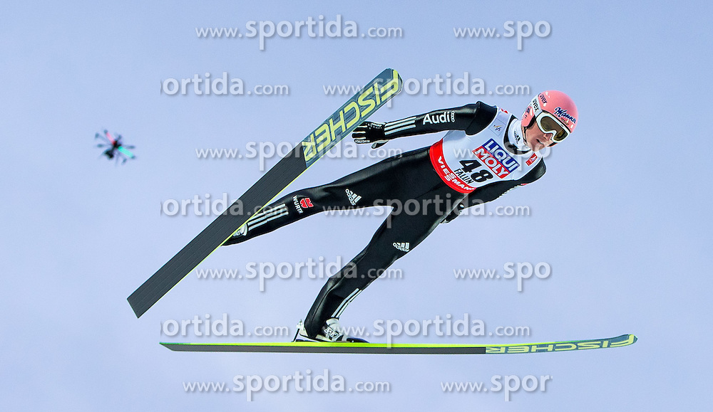 26.02.2015, Lugnet Ski Stadium, Falun, SWE, FIS Weltmeisterschaften Ski Nordisch, Skisprung, Herren, Finale, im Bild Severin Freund (GER) // Severin Freund of Germany during the Mens Skijumping Final of the FIS Nordic Ski World Championships 2015 at the Lugnet Ski Stadium, Falun, Sweden on 2015/02/26. EXPA Pictures © 2015, PhotoCredit: EXPA/ JFK