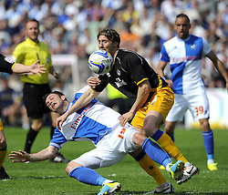 Bristol Rovers' Chris Beardsley is fouled  - Photo mandatory by-line: Joe Meredith/JMP - Mobile: 07966 386802 03/05/2014 - SPORT - FOOTBALL - Bristol - Memorial Stadium - Bristol Rovers v Mansfield - Sky Bet League Two