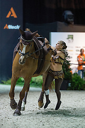 Claire De Ridder, (NED), Tjekko, Lasse Kristensen - Individuals Women Freestyle Vaulting - Alltech FEI World Equestrian Games™ 2014 - Normandy, France.<br /> © Hippo Foto Team - Jon Stroud<br /> 03/09/2014