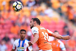 October 22, 2017 - Brisbane, QUEENSLAND, AUSTRALIA - Jack Hingert of the Roar (#19) heads the ball during the round three Hyundai A-League match between the Brisbane Roar and the Newcastle Jets at Suncorp Stadium on October 22, 2017 in Brisbane, Australia. (Credit Image: © Albert Perez via ZUMA Wire)