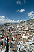 Quito Old Quarter from the Basilica El Voto National /Quito/Ecuador/South America.