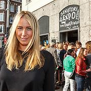 NLD/Amsterdam/20150714 - Opening tentoonstelling Selwyn Senatori, Model Marloes van Zee