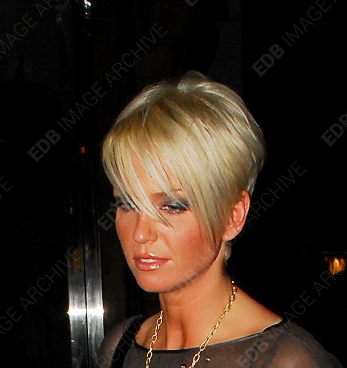 27.JANUARY.2013. LONDON<br /> <br /> SARAH HARDING ARRIVING AT CUKOO CLUB AT 12.00AM WITH A NEW  SHORTER STYLE HAIRCUT AND THEN LEAVING LOOKING WORSE FOR WEAR AT 3.30AM AND WHEN SHE GOT IN THE CAB SHE NEARLY FELL OUT THE DOOR AS SHE WAS PULLING THE DOOR CLOSED.<br /> <br /> BYLINE: EDBIMAGEARCHIVE.CO.UK<br /> <br /> *THIS IMAGE IS STRICTLY FOR UK NEWSPAPERS AND MAGAZINES ONLY*<br /> *FOR WORLD WIDE SALES AND WEB USE PLEASE CONTACT EDBIMAGEARCHIVE - 0208 954 5968*