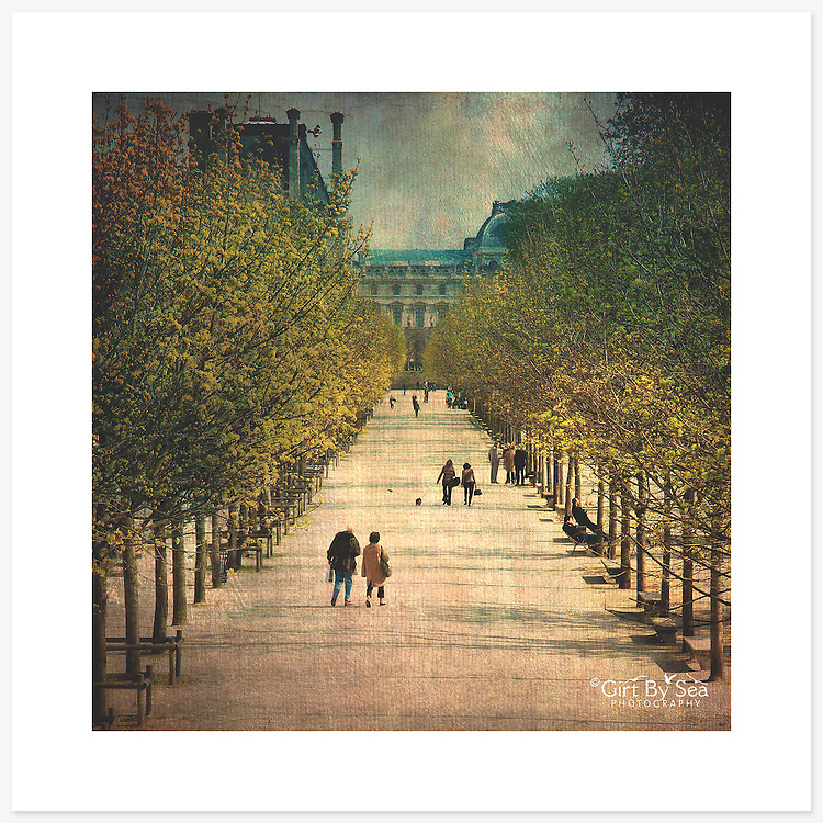 Jardin des Tuileries, Paris, France - Colour version. Inkjet pigment print on Canson Infinity Rag Photographique 310gsm 100% cotton museum grade Fine Art and photo paper.<br />