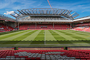 General View of Anfield before the Barclays Premier League match between Liverpool and Stoke City at Anfield, Liverpool, England on 10 April 2016. Photo by Mark P Doherty.