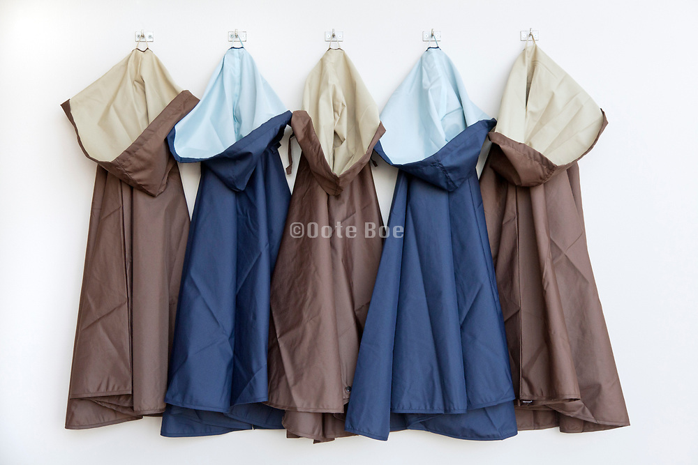 raincoats hanging