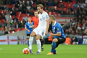 England striker Harry Kane plays the ball during the Group E UEFA European 2016 Qualifier match between England and Estonia at Wembley Stadium, London, England on 9 October 2015. Photo by Alan Franklin.