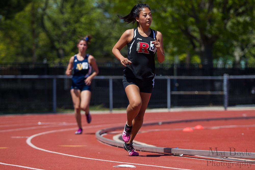 Women's 5000 meters at the NJAC Track and Field Championships at Richard Wacker Stadium on the campus of  Rowan University  in Glassboro, NJ on Sunday May 5, 2013. (photo / Mat Boyle)