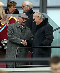 West Ham United co-owner David Gould (right) in the stands before the Emirates FA Cup, third round match at London Stadium.