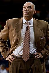Virginia Cavaliers head coach Dave Leitao..The Virginia Cavaliers men's basketball team defeated the Carson-Newman Eagles 124-65 in an exhibition basketball game at the John Paul Jones Arena in Charlottesville, VA on November 4, 2007.