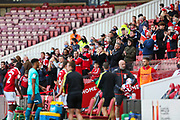 Middlesbrough supporters applaud their team off the pitch following the EFL Sky Bet Championship match between Middlesbrough and Bournemouth at the Riverside Stadium, Middlesbrough, England on 19 September 2020.