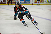 KELOWNA, CANADA - OCTOBER 21:  Leif Mattson #28 of the Kelowna Rockets skates at the Kelowna Rockets game on October 21, 2016 at Prospera Place in Kelowna, British Columbia, Canada.  (Photo By Cindy Rogers/Nyasa Photography,  *** Local Caption ***