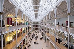 The Grand Gallery of the  National Museum of Scotland in Edinburgh, Scotland, United Kingdom