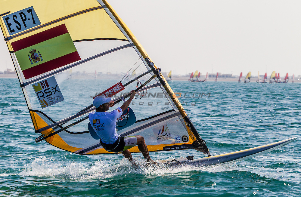 RS:X WORLD CHAMPIONSHIP 2015, October 17th-24th Al Mussanah Sports City, Sultanate of Oman.Second day of racing 20.10.2015<br /> <br /> Credit Jesus Renedo/Oman Sail