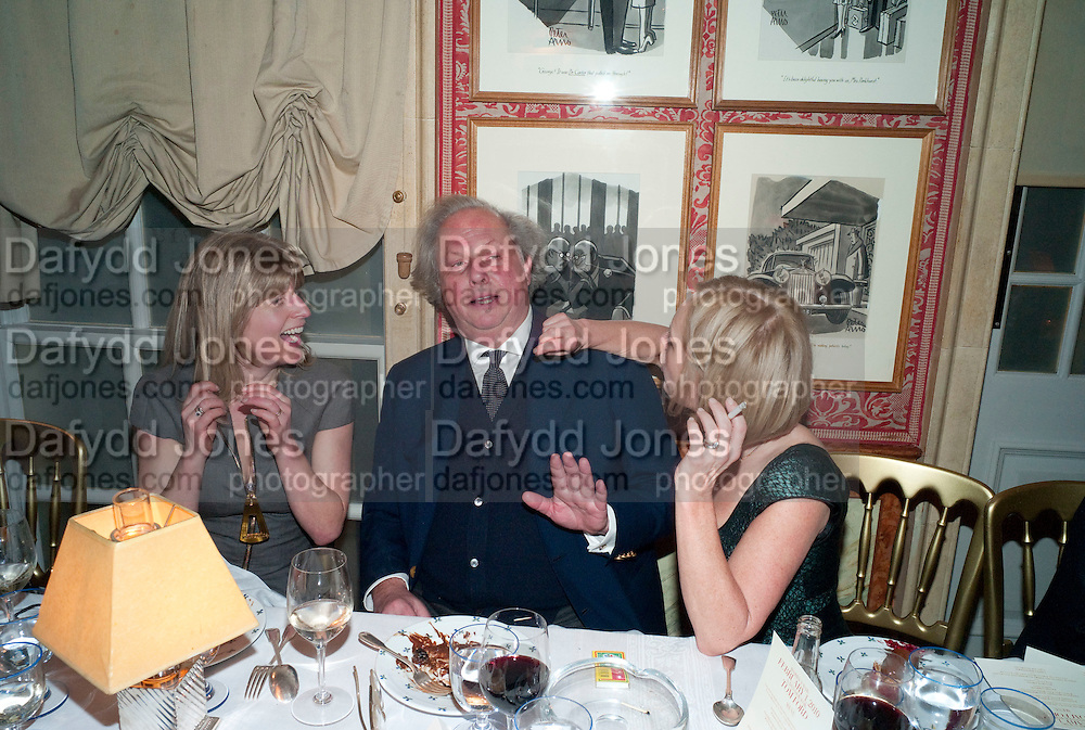 RACHEL JOHNSON; GRAYDON CARTER; MARIELA FROSTRUP, Graydon Carter hosts a diner for Tom Ford to celebrate the London premiere of ' A Single Man' Harry's Bar. South Audley St. London. 1 February 2010