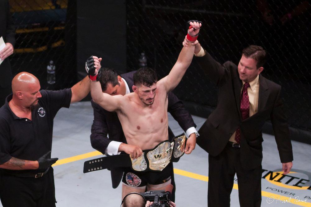 Gert Kocani won the WEF Lightweight Title during World Extreme Fighting 46 at UCF Arena in Orlando, FL on April 23, 2011.  (Kurt Rivers/KnightNews.com)..