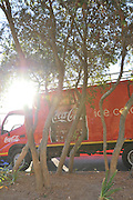 BELLVILLE, SOUTH AFRICA - Wednesday 3 December 2014, Coke truck during the Metropolitan 10km road race outside the Parc Du Cap head office in Bellville.<br /> Photo by IMAGE SA / Roger Sedres