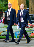 © Licensed to London News Pictures. 11/09/2012. Westminster, UK (L) Lord Chancellor, Secretary of State for Justice - Chris Grayling and Business Secretary Vince Cable. MP's arrive for Cabinet at number 10 Downing Street today 11/09/12. Photo credit : Stephen Simpson/LNP