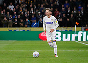 Leeds United defender Barry Douglas (3)  during the EFL Sky Bet Championship match between Hull City and Leeds United at the KCOM Stadium, Kingston upon Hull, England on 2 October 2018.