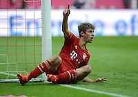 FUSSBALL   1. BUNDESLIGA  SAISON 2012/2013   2. Spieltag FC Bayern Muenchen - VfB Stuttgart      02.09.2012 Jubel nach dem Tor Thomas Mueller (FC Bayern Muenchen)