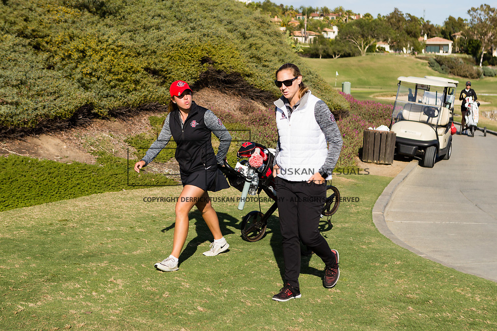 26 March 2018: The San Diego State women's golf team hosts it's annual March Mayhem Tournament at the Farms Golf Club in Rancho Santa Fe, California.<br /> More game action at sdsuaztecphotos.com
