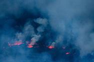 Details und Stukturen im Lavasee des Nyiragongo, Virunga, Nordkivu, Kongo<br /> <br /> Details and structures in the lava lake of Nyiragongo, Virunga, North Kivu, Congo