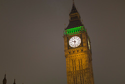 © licensed to London News Pictures. London, UK 23/03/2013. Houses of Parliament switches its lights on after going dark for an hour to participate WWF Earth Hour, which encourages individuals, businesses and organisations to switch off all non-essential lighting between 8:30PM - 9:30PM on Saturday 23 March 2013. Photo credit: Tolga Akmen/LNP