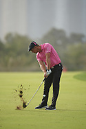 Bryson DeChambeau (USA) in action during the second round of the Omega Dubai Desert Classic, Emirates Golf Club, Dubai, UAE. 25/01/2019<br /> Picture: Golffile | Phil Inglis<br /> <br /> <br /> All photo usage must carry mandatory copyright credit (© Golffile | Phil Inglis)