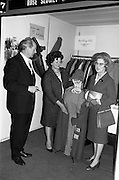 24/04/1964<br /> 04/24/1964<br /> 24 April 1964 <br /> Irish Export Fashion Fair at the Intercontinental Hotel, Dublin. Rose Slowey and Co. Ltd., (Abbey Street, Dublin) stand at the fair. Minister for Industry and Commerce, Mr jack Lynch T.D. on left.
