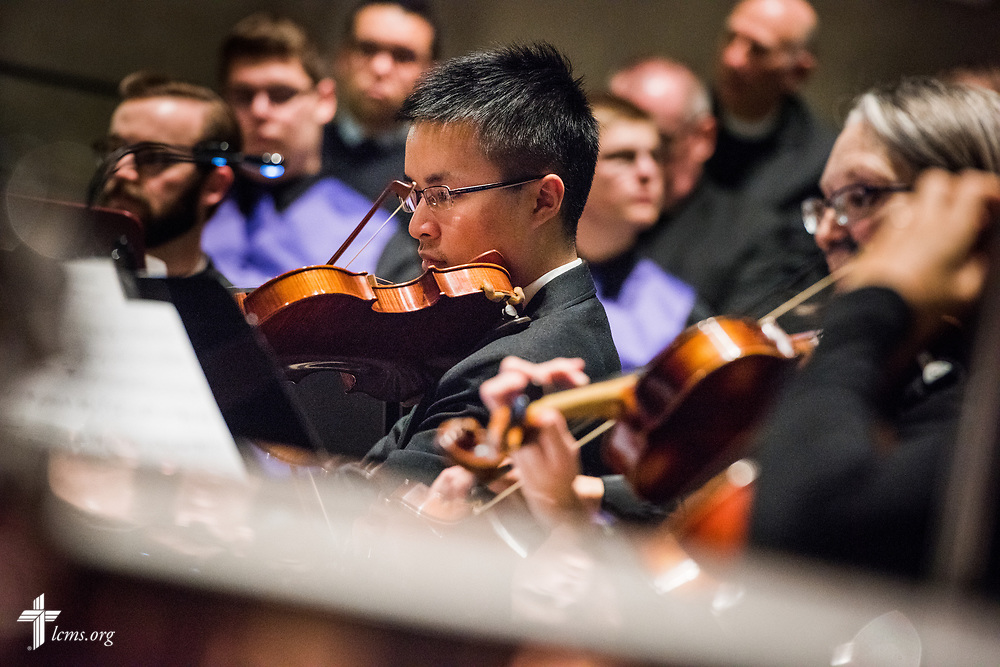 Musicians perform during the 500th Anniversary of the Reformation service on Tuesday, Oct. 31, 2017, at Concordia Theological Seminary, Fort Wayne, Ind. LCMS Communications/Erik M. Lunsford
