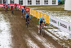 Jappe Jaspers (BEL) leading, Men Juniors, Cyclo-cross World Championship Tabor, Czech Republic, 31 January 2015, Photo by Pim Nijland / PelotonPhotos.com