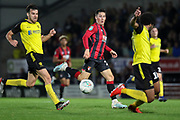 Bournemouth midfielder Harry Wilson cross the ball during the EFL Cup match between Burton Albion and Bournemouth at the Pirelli Stadium, Burton upon Trent, England on 25 September 2019.