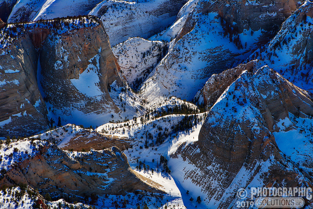 Zions National Park with a fresh coating of winter snow