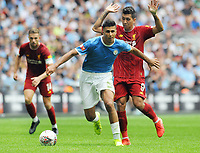 Football - 2019 FA Community Shield - Liverpool vs. Manchester City<br /> <br /> Man City new signing, Rodrigo and Roberto Firmino, at Wembley Stadium.<br /> <br /> COLORSPORT/ANDREW COWIE