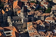Aerial view of St. Blaise church in Old Town Dubrovnik a UNESCO World Heritage Site