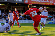 Danny Johnson during the Friendly match between York City and Leeds United at Bootham Crescent, York, England on 15 July 2015. Photo by Simon Davies.