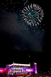 The Virgin Money Fireworks Concert concludes the Edinburgh International Festival with music from the Scottish Chamber Orchestra conducted by Kristiina Poska. Fireworks were by Pyrovision.