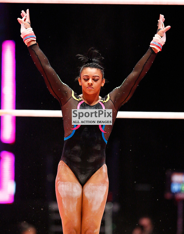 2015 Artistic Gymnastics World Championships being held in Glasgow from 23rd October to 1st November 2015...Elissa Downie (Great Britain) competing in the Uneven Bars competition...(c) STEPHEN LAWSON | SportPix.org.uk