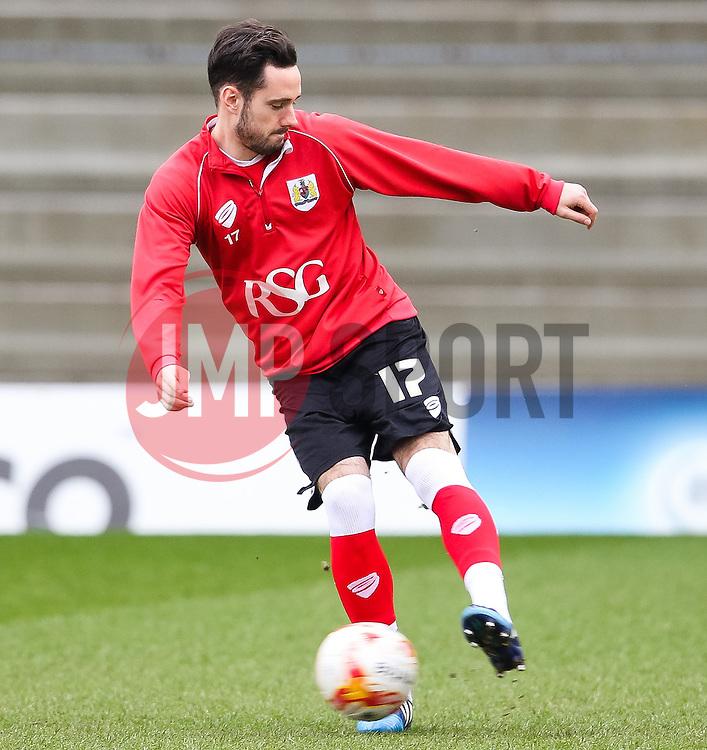 Bristol City's Greg Cunningham warms up before kick off  - Photo mandatory by-line: Matt McNulty/JMP - Mobile: 07966 386802 - 03/04/2015 - SPORT - Football - Oldham - Boundary Park - Oldham Athletic v Bristol City - Sky Bet League One
